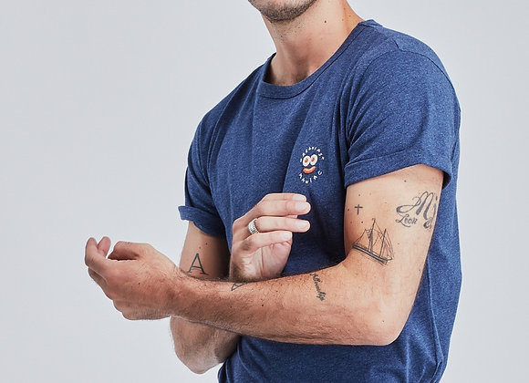 "Maison Labiche T-Shirt CLASSIC TEE ""BREAKFAST MANIAC"" Gris Chiné"