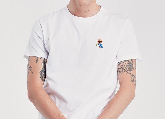 """Maison Labiche T-Shirt HEAVY TEE """"DOG"""" White"""