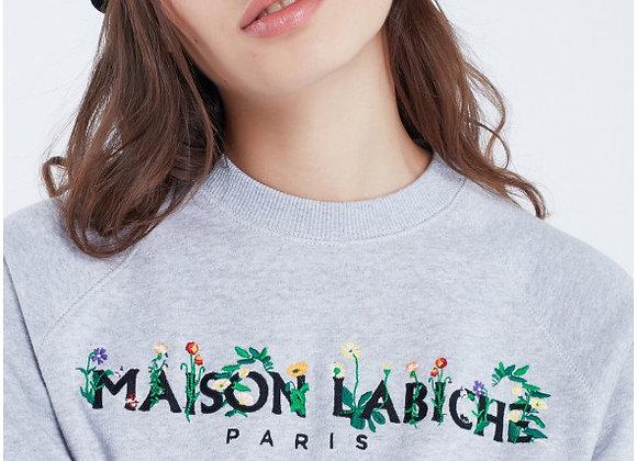 "Maison Labiche Sweat ""MAISON LABICHE"" Fleuri"