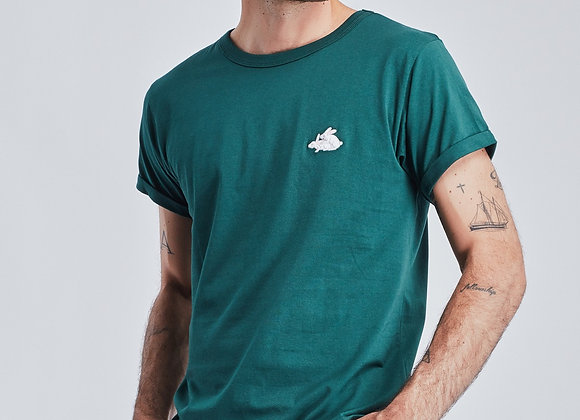 "Maison Labiche T-Shirt CLASSIC TEE ""LAPINS"" Green"