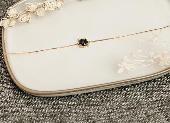 Feeka Bracelet BARBARA Or Onyx Noir