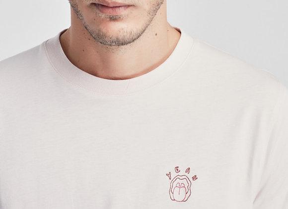 """Maison Labiche T-Shirt HEAVY TEE """"YEAH BOUCHE"""" Light Pink"""