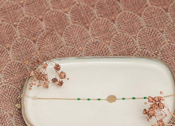 Feeka Bracelet MEDAL Or Emeraude