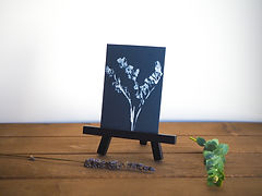 Goldenrod mini painting on easel | ART x EARTH