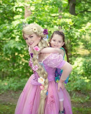 Rapunzel at the park