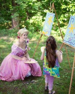 Painting with Rapunzel