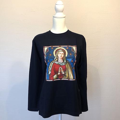 ロングTシャツ/マグダラのマリア&立体十字架/S