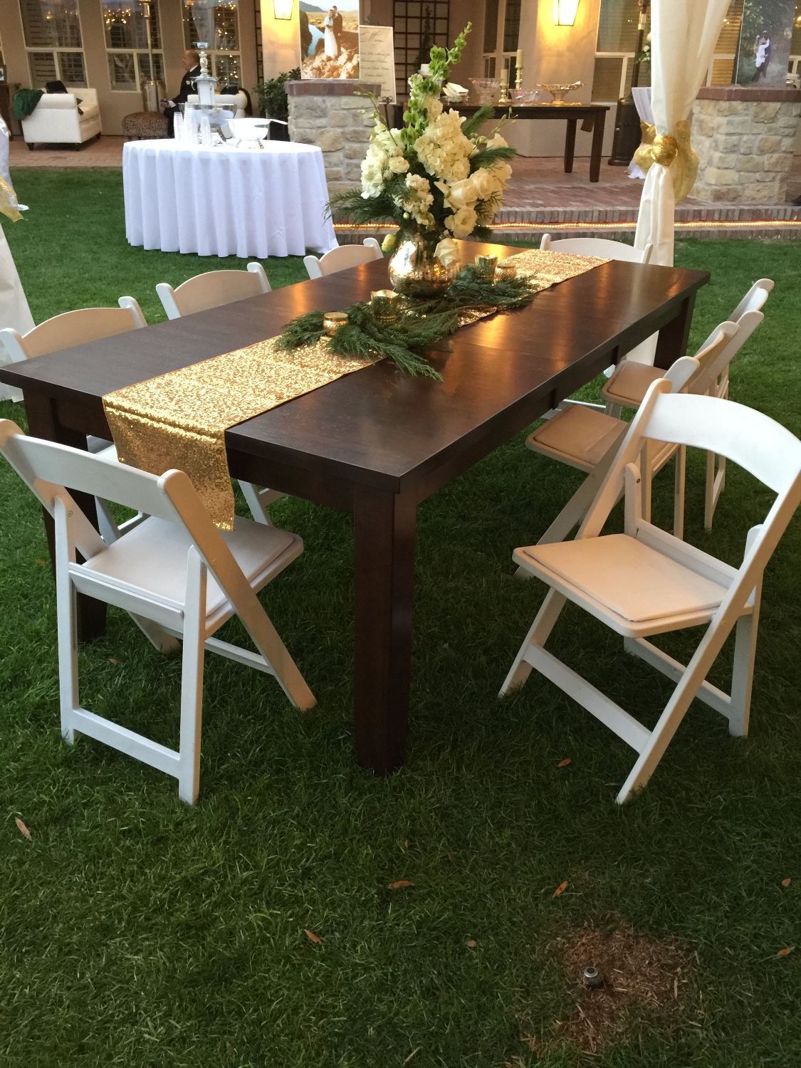 Wood Table Rental