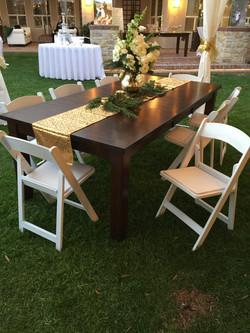 Wood Table Rental