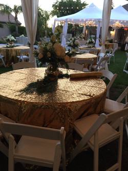 Round Table with Wedding Chairs