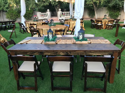 Wood Tables and Chairs