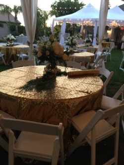Round Table and Wedding Chairs