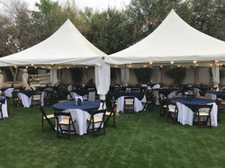 2 20x20 tent with tables
