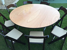 Round Table and wedding chairs in Gilbert and Mesa
