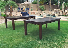 Long wood tables for rent in Gilbert and Mesa
