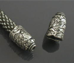 Silver domed bead caps by Holly Gage