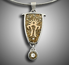 Lesson: Petroglyph Pendant with Holly Gage and Metal Clay
