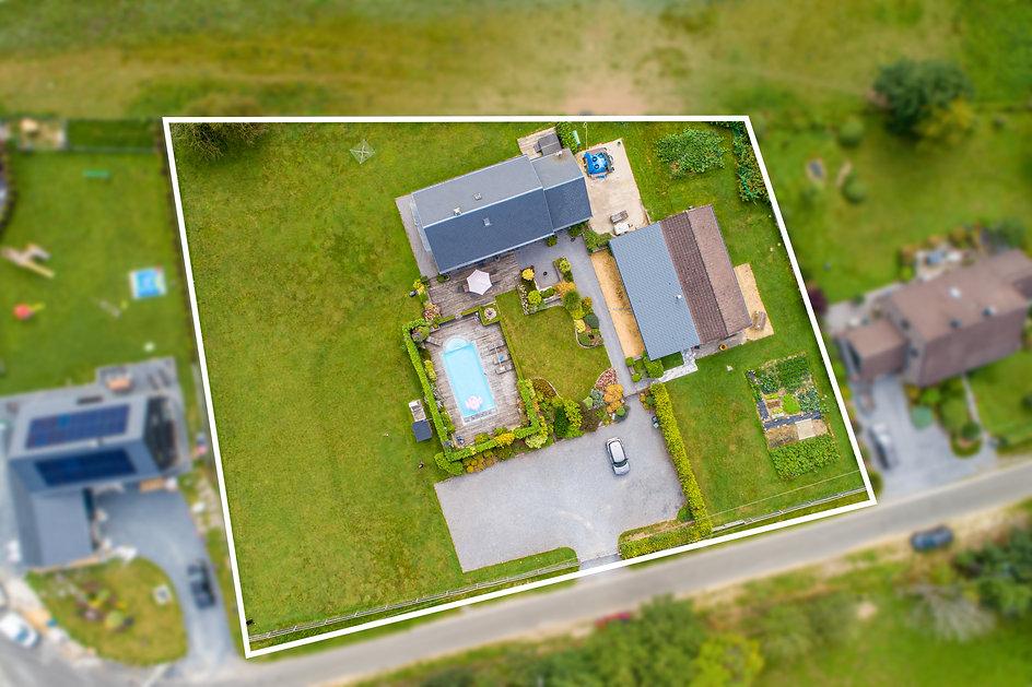 Photographie HDR par drone d'un bien immobilier
