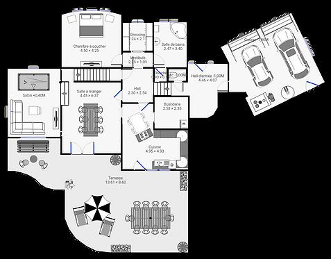Plan 2D mesuré au laser