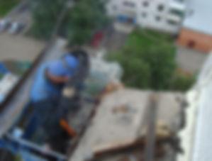 Ремон балкона козырька верхних этажей Кемерово  Гидроизоляция козырька Техно Николь Техноэласт Ремонт балконных блит