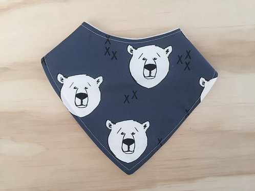 Polar Bear Dribble Bib