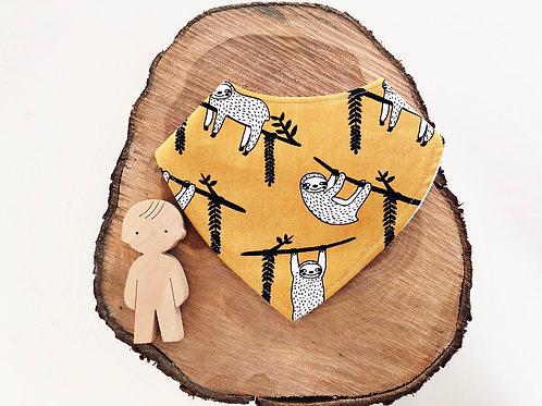 Mustard Sloth Dribble Bib