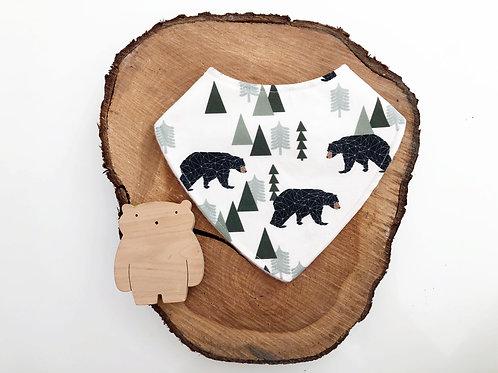 Bears & Trees Dribble Bib
