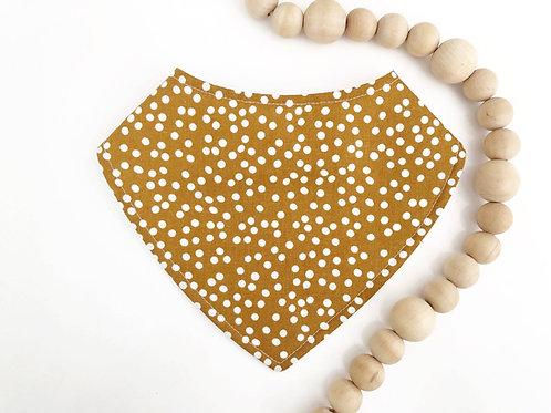LINEN - Caramel Dots Dribble Bib