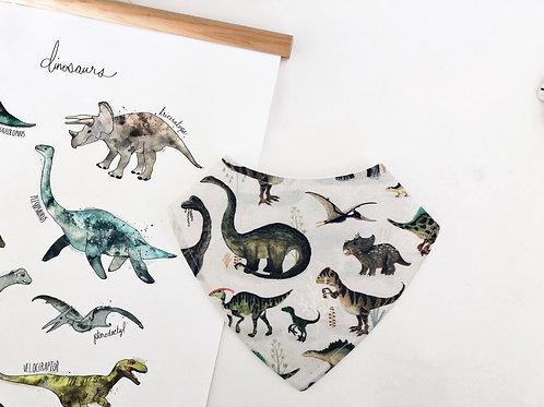 Dinosaur Dribble Bib