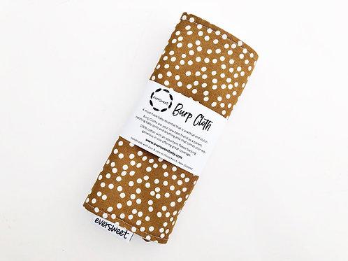 Caramel Dots Burp Cloth