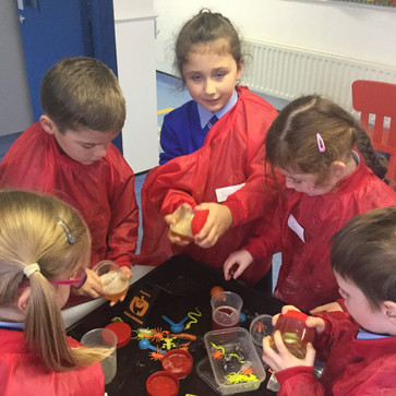 Halloween Stations in Junior Infants