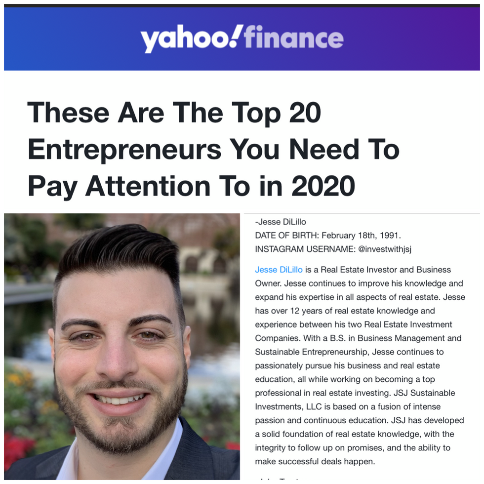 Yahoo Finance - These Are The Top 20 Entrepreneurs You Need To Pay Attention To In 2020