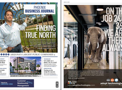 Our newest ad in the Biz Journal