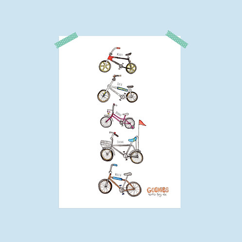 Limited Edition The Goonies Bikes Print