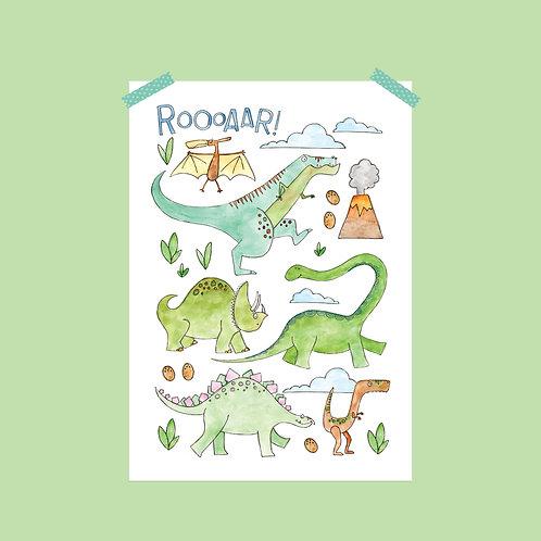 Limited Edition Dinosaur Print