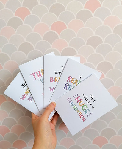 Pack of 5 cards of your choice