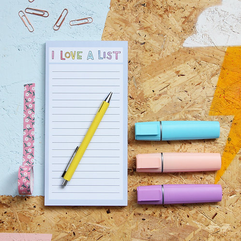I Love A List  Notepad