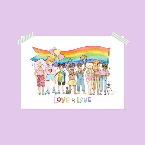 Limited Edition Love is Love Print