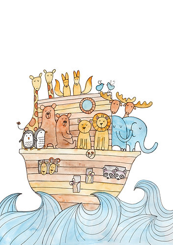 Limited Edition Noah's Ark Print