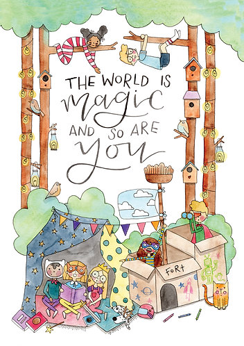 The World is Magic Print