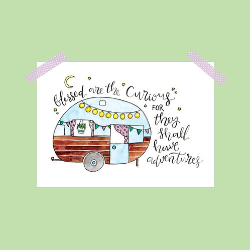 Limited Edition Blessed are the Curious Print