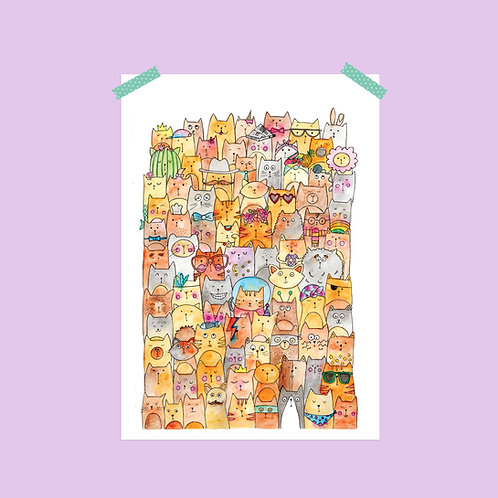Limited Edition Cats Print