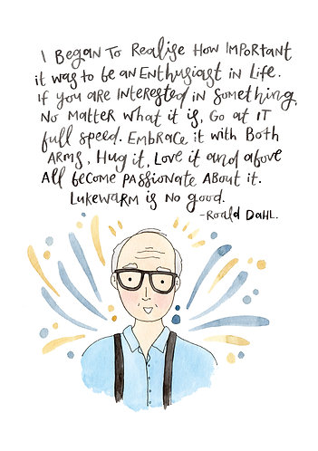 Roald Dahl Quote Illustration