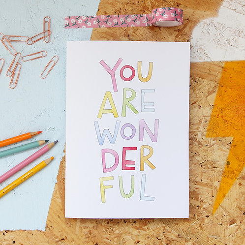 You Are Wonderful A5 Sketchbook