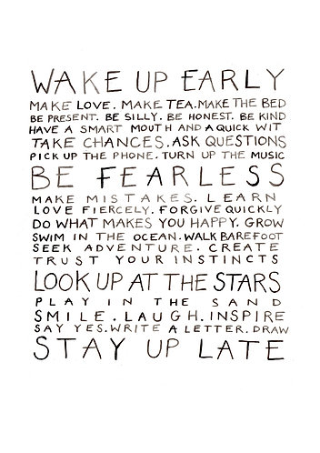 Words to live by Print