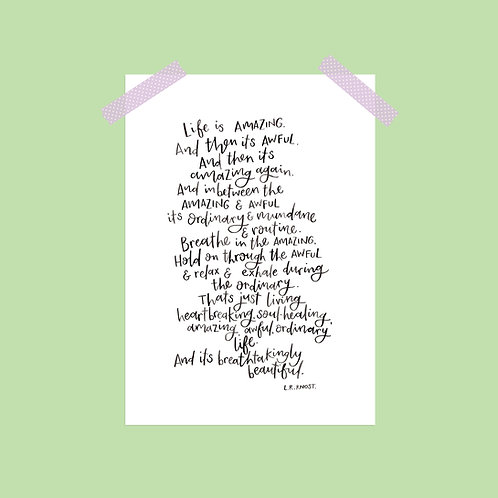 Life is Amazing Limited Edition Print
