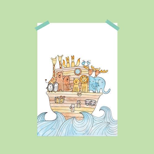Limited Edition Noah's Ark Print