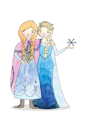 Elsa and Anna double sided Print