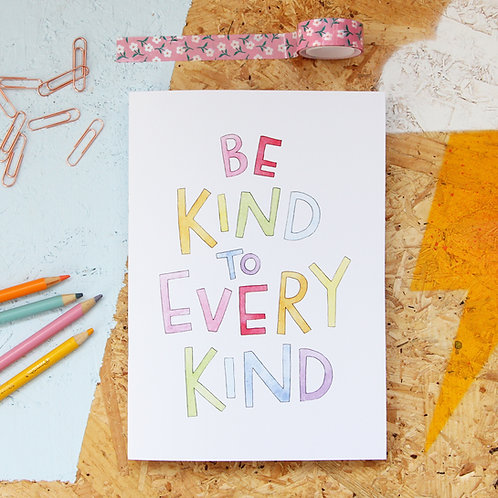 Be Kind To Every Kind A5 Sketchbook