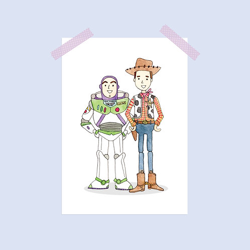 Limited Edition Woody and Buzz Print